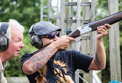 Clay Shooting under guidance of an instructor