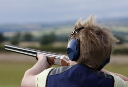 Clay Pigeon Shooting 12 Bore shotgun