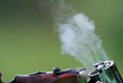 Smoking Clay Pigeon Shooting Gun