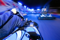 Indoor karting onboard