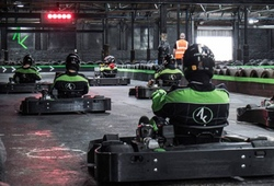 Indoor Karting near Chester all at the start line
