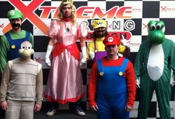 Stag group dressed up in Mario super karts fancy dress