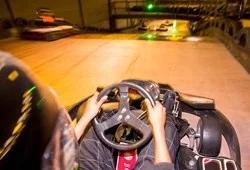 Onboard an indoor kart