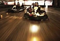 3 Indoor go karts racing