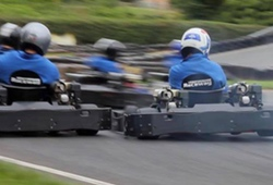 outdoor go karts battling it out