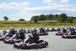 7 Outdoor Go Karts racing