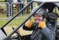 Rage Buggy Driver Giving Thumbs Up